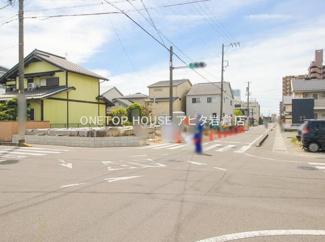 【前面道路含む現地写真】北名古屋市西之保深坪