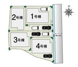 -現地外観写真- 駅徒歩約10分の好立地に限定4区画分譲開始! ・駐車2台可能で、ゆとりのある広さです。