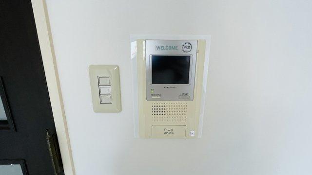TVモニターホン付きで来客時にだれが訪ねてきたか分かるので防犯面も安心です