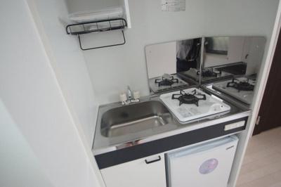 ミニ冷蔵庫付きキッチン