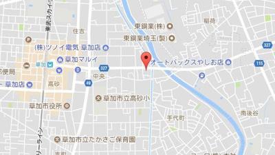 【地図】レユシット草加