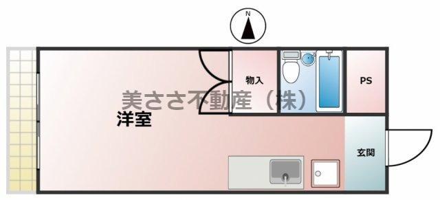 洋室6帖、 室内洗濯機置場、広めのキッチン、ユニットバス