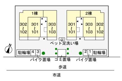 【区画図】ジェルメ 壱番館