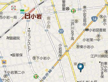 【地図】CASA東小岩(カーサヒガシコイワ)