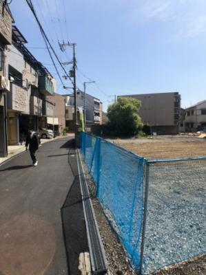 【前面道路含む現地写真】大阪市城東区諏訪1丁目 2号地 新築戸建