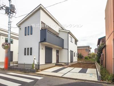 【前面道路含む現地写真】土浦市城北町1期 新築戸建 全2棟