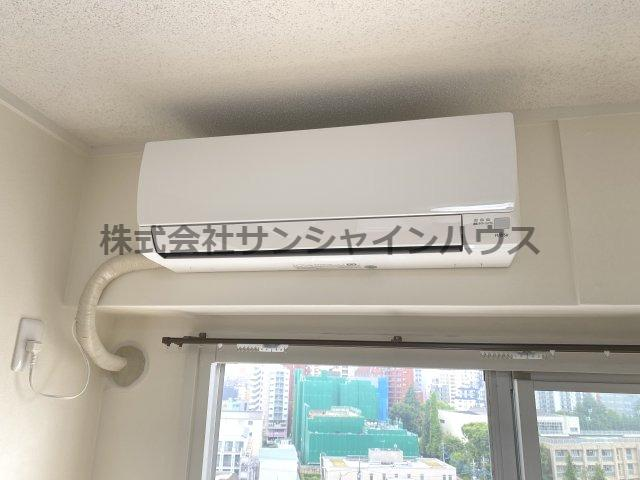 リビングにはエアコンも付いています。