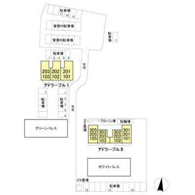【区画図】アドラーブル Ⅰ