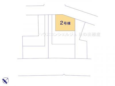 【区画図】名古屋市中川区本前田町245【仲介手数料無料】新築一戸建て 2号棟