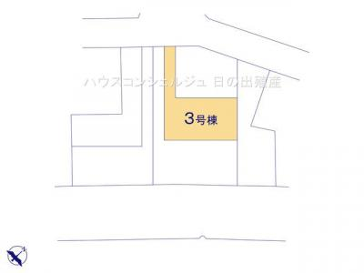 【区画図】名古屋市中川区本前田町245【仲介手数料無料】新築一戸建て 3号棟