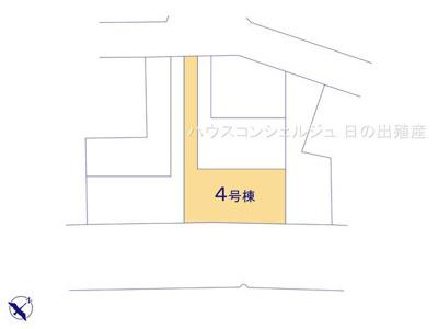 【区画図】名古屋市中川区本前田町245【仲介手数料無料】新築一戸建て 4号棟