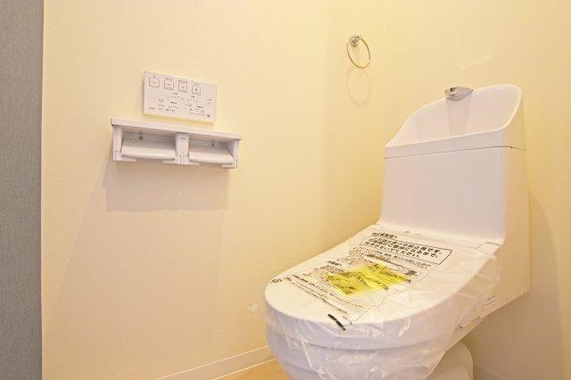 節水式のウォシュレットトイレです。