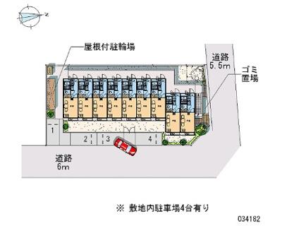 【駐車場】レオパレスSUN花小金井(34182-205)