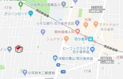 【地図】レオパレスSUN花小金井(34182-205)