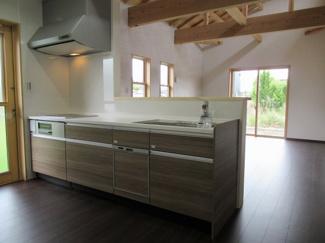食器洗浄乾燥機付き対面キッチン(浄水器・シャワーヘッド)