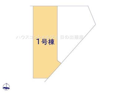 【区画図】名古屋市緑区若田3丁目612【仲介手数料無料】新築一戸建て 1号棟
