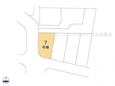 【区画図】名古屋市北区成願寺2丁目1104【仲介手数料無料】新築一戸建て 7号棟