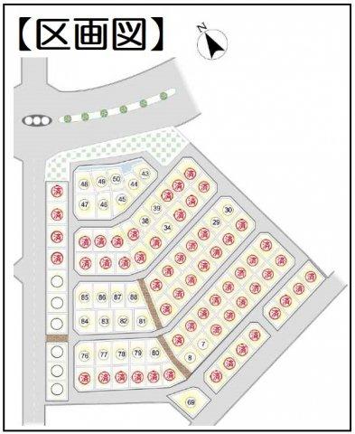 【区画図】大型分譲地につき綺麗な街並み◎ゆったり広々4SLDK☆駐車2台OK♪木津川市州見台6丁目