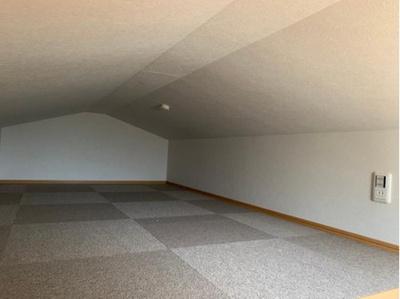 屋根裏収納スペースです。