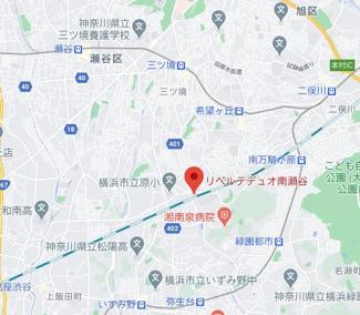 【地図】リベルテデュオ南瀬谷