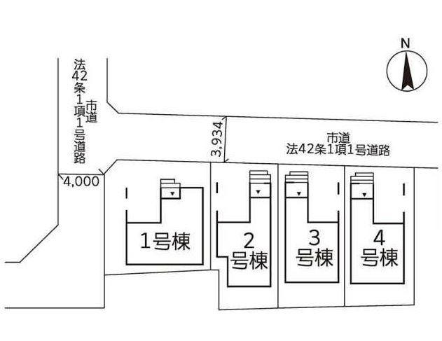 区画図です。3号棟