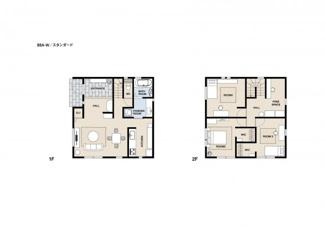 ジブンハウス仕様プラン例(88A)参考プラン 建物面積103.50m2 建物価格1540万円