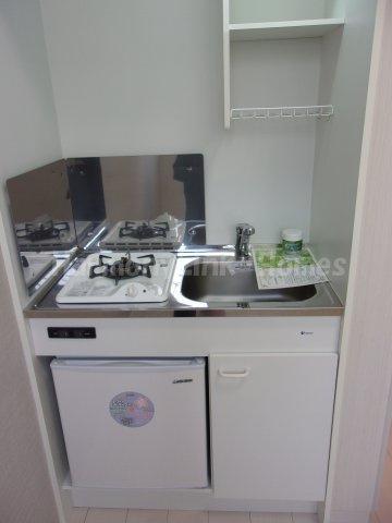 デルソルイケブクロのキッチン(ミニ冷蔵庫付き)