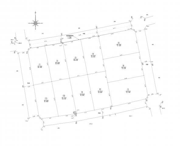 【区画図】湖東2丁目 1号地