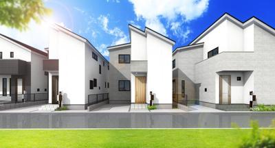 【外観パース】A120 新築戸建 日野市多摩平1丁目 2号棟