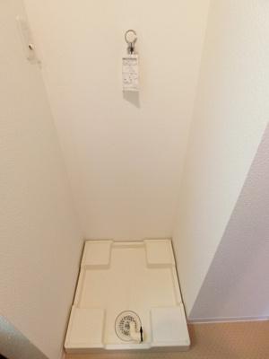 洗濯機も室内設置可能です
