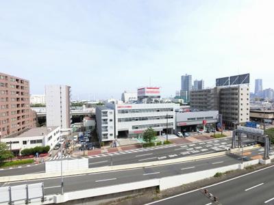 7階部分からの眺望です。 前面に建物がなく開放感◎