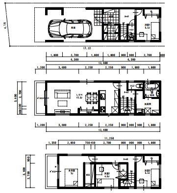 【土地図+建物プラン例】土地・建物セット価格!摂津市千里丘東1丁目 売り土地