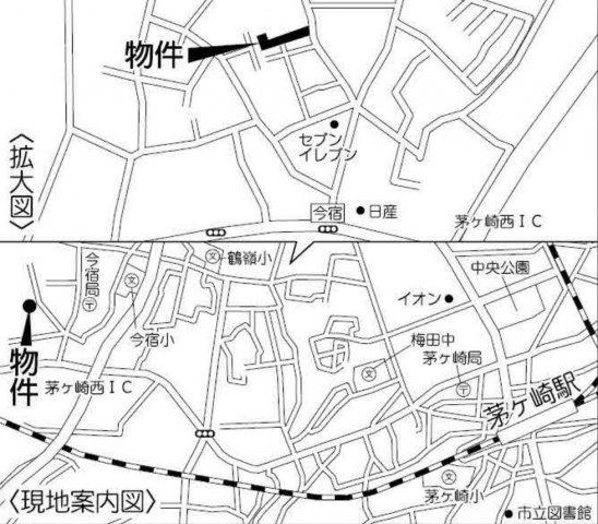 【地図】土地 茅ヶ崎市今宿 5号地