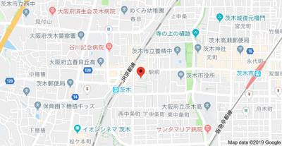 【地図】センフィル茨木