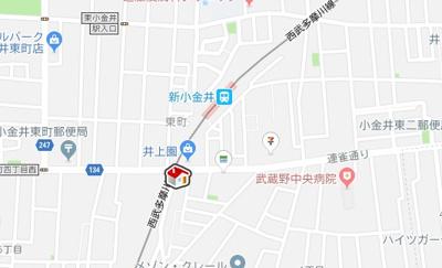 【地図】レオパレス峰(29884-203)