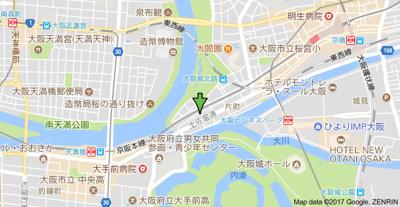 【地図】N'sアーク天満橋