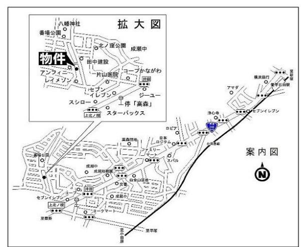 【地図】伊勢原市高森 売地