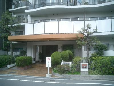 周辺にはマンションや複合ビルに戸建ての並ぶ、落ち着いた環境に立地。