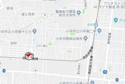 【地図】レオネクストヴィーヴルⅢ(55081-303)