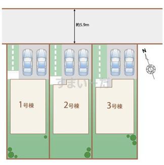 【区画図】沼津市原町中 第14期 新築戸建 3号棟