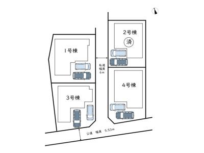 【区画図】姫路市香寺町広瀬/4棟