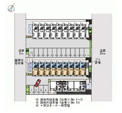 【駐車場】レオパレスエステシティ Ⅱ(42599-105)