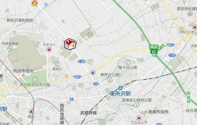 【地図】レオパレスエステシティ Ⅱ(42599-105)