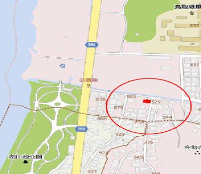 【地図】鳥取市湖山町南3丁目土地