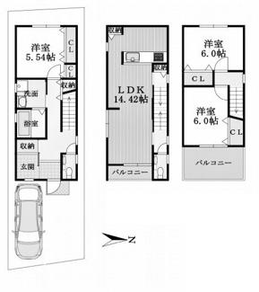 建物参考プラン延床面積:88.29平米
