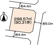 東南角地(3方角)下佐野町土地の画像