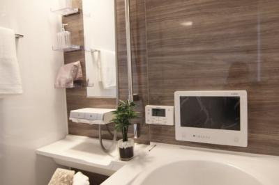 浴室の壁も自分好みにできます♪ゆったり過ごせるお風呂です!当社施工例です!