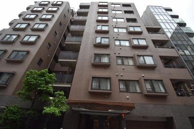 【外観パース】麻布十番商店街沿い 分譲賃貸マンション ウィン麻布十番ハラビル