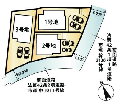 【区画図】大津市穴太1丁目8 新築分譲