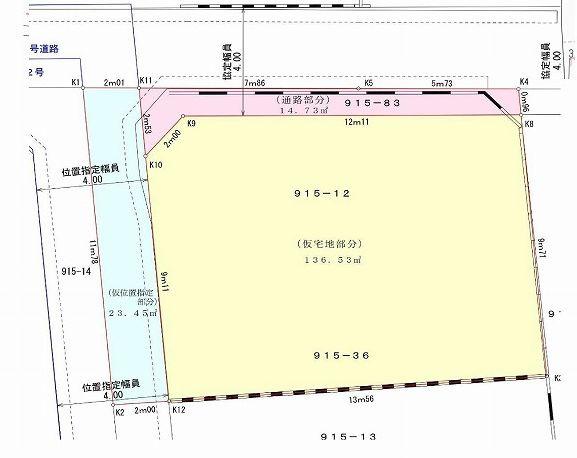 【土地図】世田谷区上祖師谷7丁目 売地